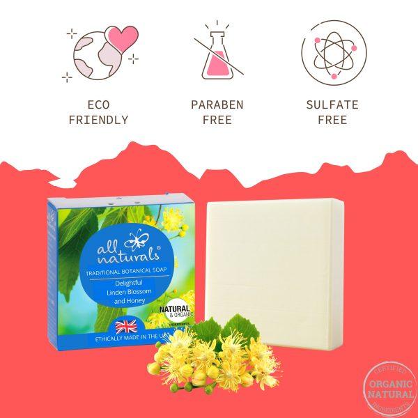 All Naturals Linden Soap 100% Organic Natural