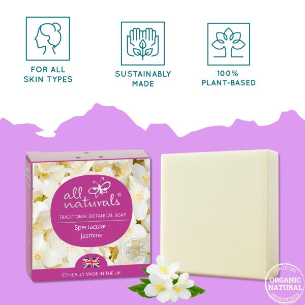 Natural Shea butter Olive Oil Face Wash Jasmine