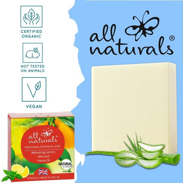 All Naturals Lemon Mint Acne Soap