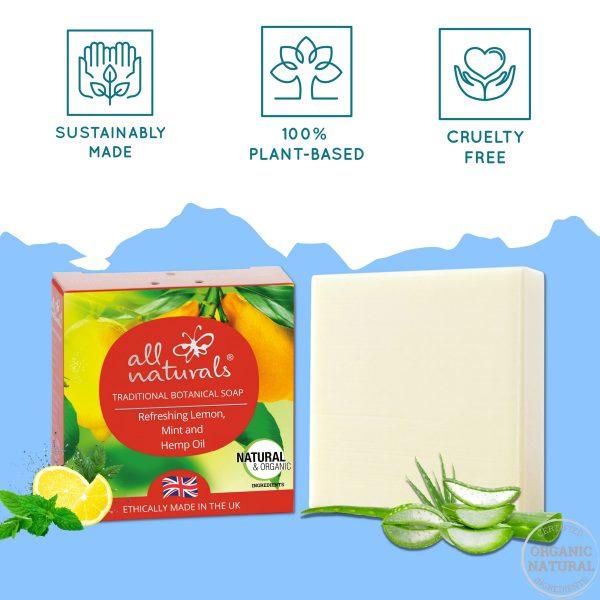 Lemon and Mint Acne Soap for Sensitive Skin