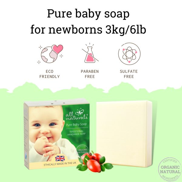Pure Baby Soap Safe for Newborn