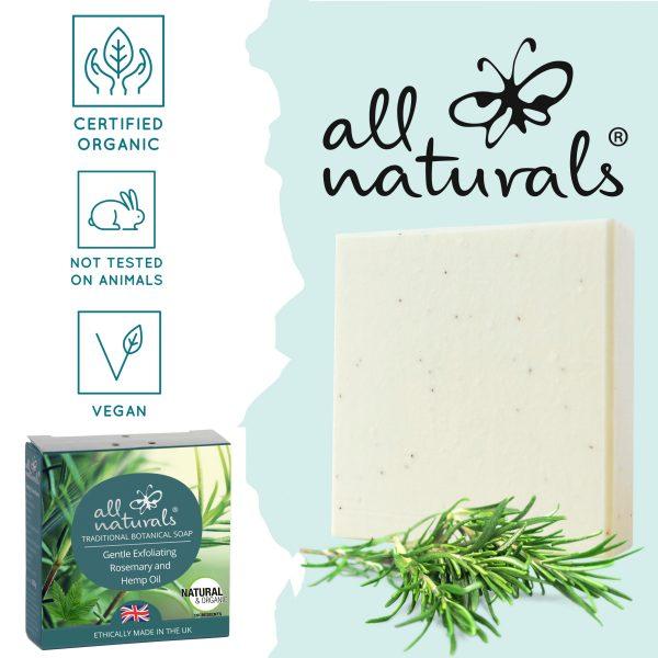 Organic Rosemary Hemp Soap