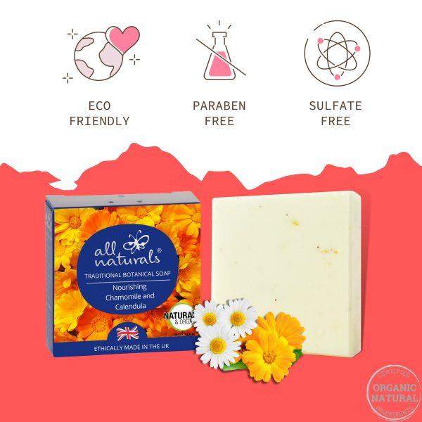 Organic Calendula Soap Chemicals Free