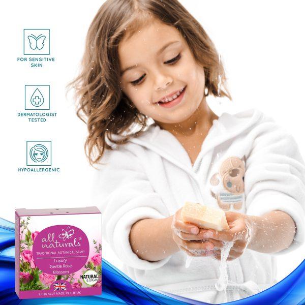 Rose soap sensitive skin