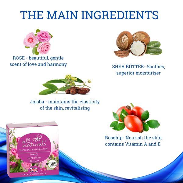 Rose Soap Ingredients
